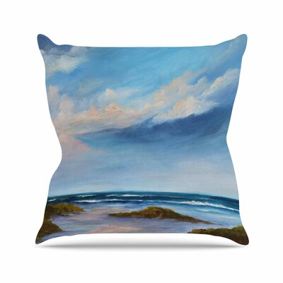 Rosie Brown Summer Showers Beach Outdoor Throw Pillow Size: 18 H x 18 W x 5 D