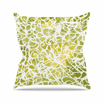 Rosie Brown Spiral Abstract Outdoor Throw Pillow Size: 16 H x 16 W x 5 D