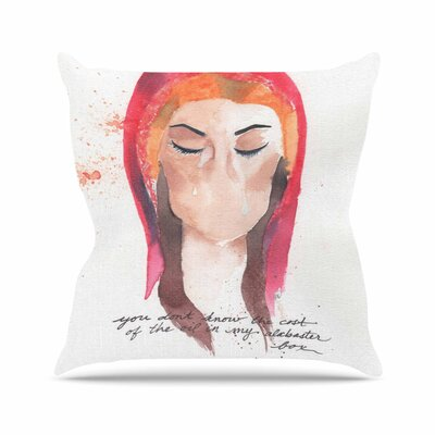 Rebecca Bender Mary Magdelene Outdoor Throw Pillow Size: 16 H x 16 W x 5 D