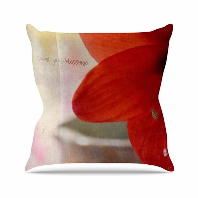 Robin Dickinson Count Your Blessings Floral Outdoor Throw Pillow Size: 18 H x 18 W x 5 D