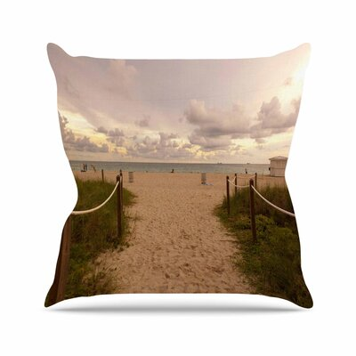 Rosie Brown Walkway To Heaven Coastal Photography Outdoor Throw Pillow Size: 16 H x 16 W x 5 D