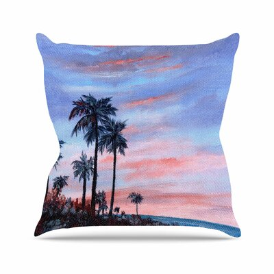 Rosie Brown Florida Sunset Outdoor Throw Pillow Size: 18 H x 18 W x 5 D