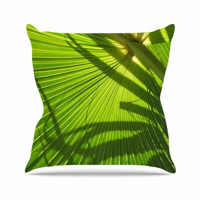 Rosie Brown Palm Shadows Outdoor Throw Pillow Size: 16 H x 16 W x 5 D