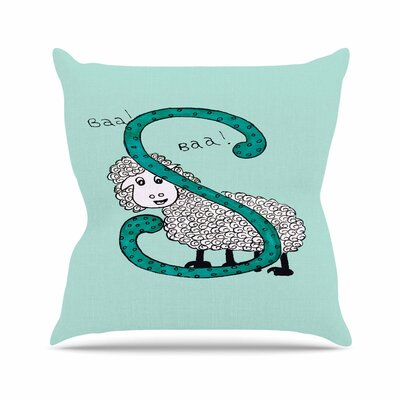 Rosie Brown Sis for Sheep Outdoor Throw Pillow Size: 16 H x 16 W x 5 D, Color: Blue