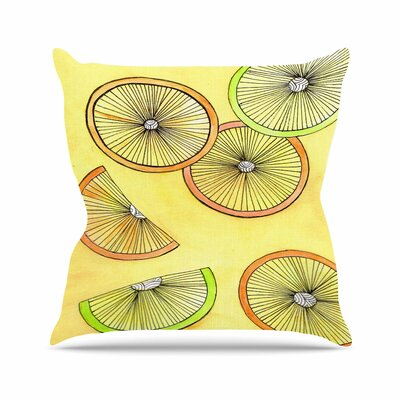 Rosie Brown Lemons and Limes Fruit Outdoor Throw Pillow Size: 16 H x 16 W x 5 D