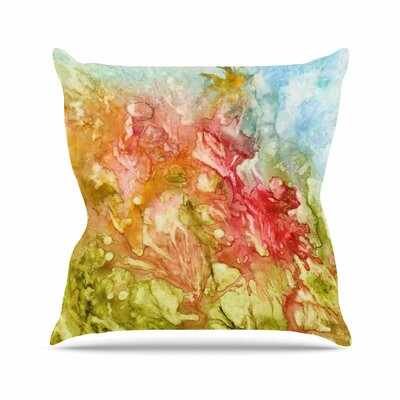 Rosie Brown Fantasy Garden Painting Outdoor Throw Pillow Size: 18 H x 18 W x 5 D