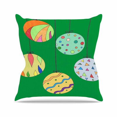Rosie Brown Trim the Tree Green Outdoor Throw Pillow Size: 16 H x 16 W x 5 D