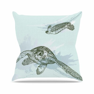 Sam Posnick Sea Turtles Outdoor Throw Pillow Size: 16 H x 16 W x 5 D