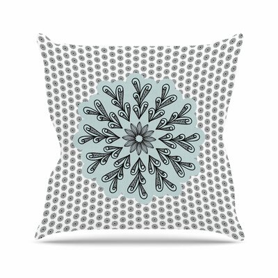 Shirlei Patricia Muniz My Flower Abstract Outdoor Throw Pillow Size: 16 H x 16 W x 5 D