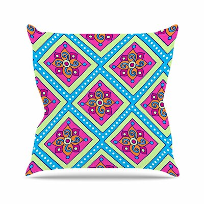 Sarah Oelerich Colorful Diamonds Outdoor Throw Pillow Size: 18 H x 18 W x 5 D