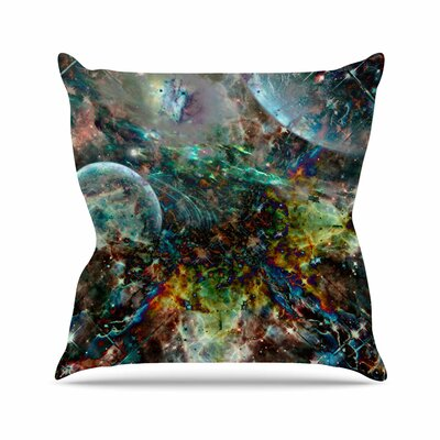 Shirlei Patricia Muniz Space Abstract Outdoor Throw Pillow Size: 16 H x 16 W x 5 D
