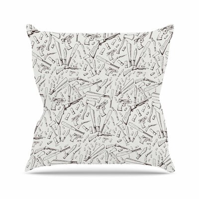Stephanie Vaeth Apocalyptic Weapons Urban llustration Outdoor Throw Pillow Size: 16 H x 16 W x 5 D