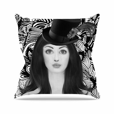 Shirlei Patricia Muniz the Secret of the Hat Urban Photography Outdoor Throw Pillow Size: 18 H x 18 W x 5 D