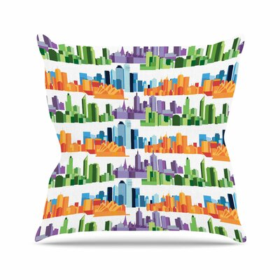 Stephanie Vaeth Australian Cities Outdoor Throw Pillow Size: 18 H x 18 W x 5 D