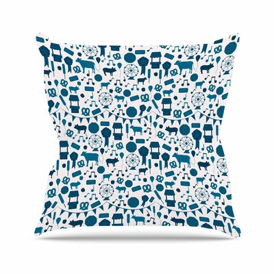 Stephanie Vaeth Country Fair Outdoor Throw Pillow Size: 16 H x 16 W x 5 D