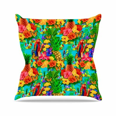 Shirlei Patricia Muniz Tropical Style Nature Outdoor Throw Pillow Size: 18 H x 18 W x 5 D