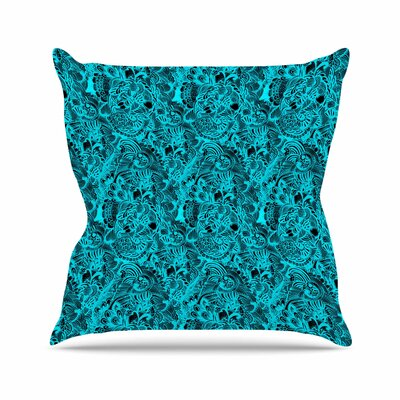 Shirlei Patricia Muniz Zentangle Mystic Abstract Outdoor Throw Pillow Size: 16 H x 16 W x 5 D