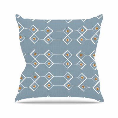 Stephanie Vaeth Diamonds Modern Outdoor Throw Pillow Size: 16 H x 16 W x 5 D