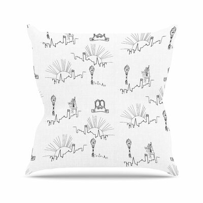 Stephanie Vaeth Neighborhood Digital Outdoor Throw Pillow Size: 18 H x 18 W x 5 D