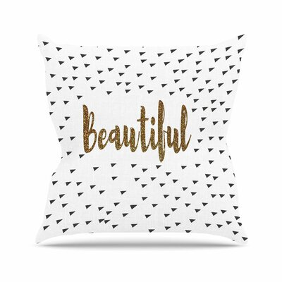 Suzanne Carter Beautiful Typography Outdoor Throw Pillow Size: 16 H x 16 W x 5 D