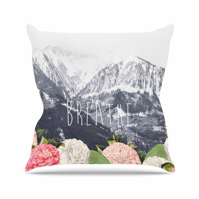 Suzanne Carter Breathe Floral Landscape Outdoor Throw Pillow Size: 16 H x 16 W x 5 D