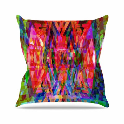 Suzanne Carter Geo-Prism Outdoor Throw Pillow Size: 16 H x 16 W x 5 D