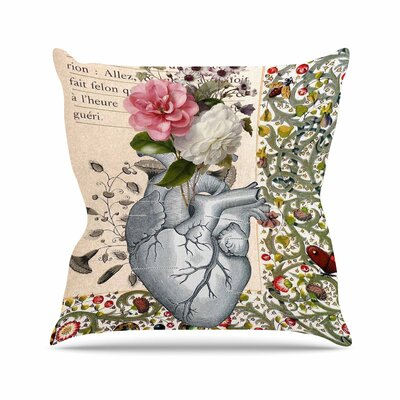 Suzanne Carter Her Heart is a Garden Outdoor Throw Pillow Size: 18 H x 18 W x 5 D