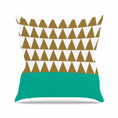 Suzanne Carter Geo Green Outdoor Throw Pillow Size: 16 H x 16 W x 5 D