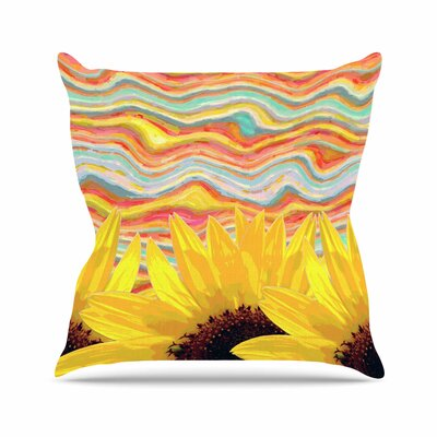 Suzanne Carter Sunflower Dreaming Outdoor Throw Pillow Size: 18 H x 18 W x 5 D