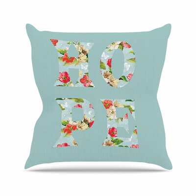 Suzanne Carter Hope Floral Outdoor Throw Pillow Size: 16 H x 16 W x 5 D