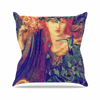 Suzanne Carter Hummingbird Outdoor Throw Pillow Size: 16 H x 16 W x 5 D