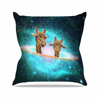 Suzanne Carter Fred & Larry Fantasy Outdoor Throw Pillow Size: 16 H x 16 W x 5 D
