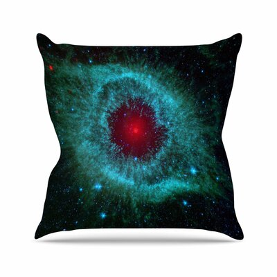 Suzanne Carter Helix Nebula Celestial Outdoor Throw Pillow Size: 16 H x 16 W x 5 D