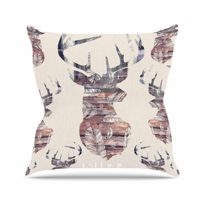 Suzanne Carter Wild & Free 2 Outdoor Throw Pillow Size: 18 H x 18 W x 5 D