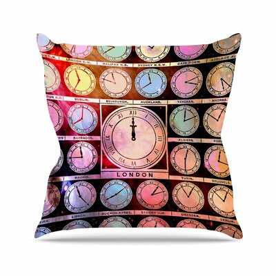 Suzanne Carter Time Space Outdoor Throw Pillow Size: 16 H x 16 W x 5 D