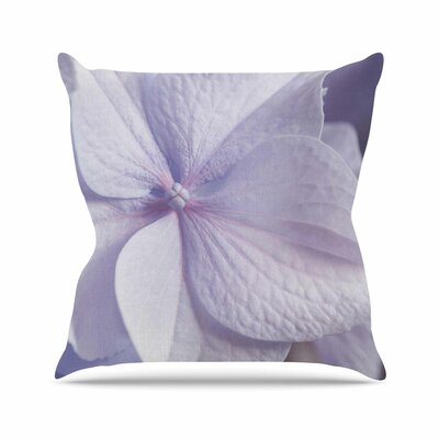 Suzanne Harford Hydrangea Flower Floral Lavender Outdoor Throw Pillow Size: 16 H x 16 W x 5 D