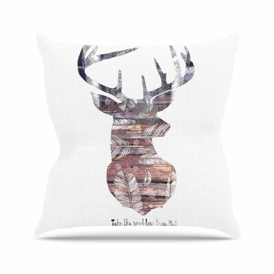 Suzanne Carter the Road Outdoor Throw Pillow Size: 18 H x 18 W x 5 D, Color: White