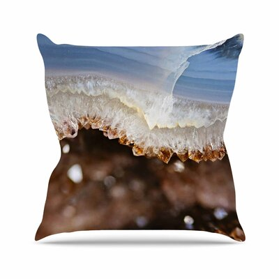 Sylvia Cook Quartz Nature Photography Outdoor Throw Pillow Size: 18 H x 18 W x 5 D