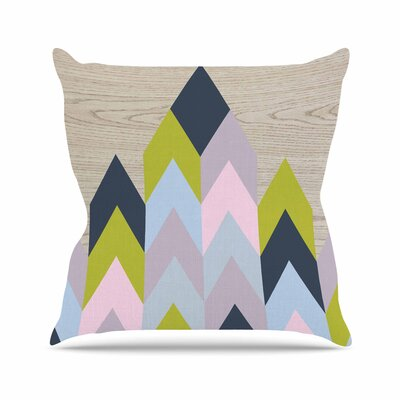 Suzanne Carter Woodgrain Geometric Outdoor Throw Pillow Size: 18 H x 18 W x 5 D