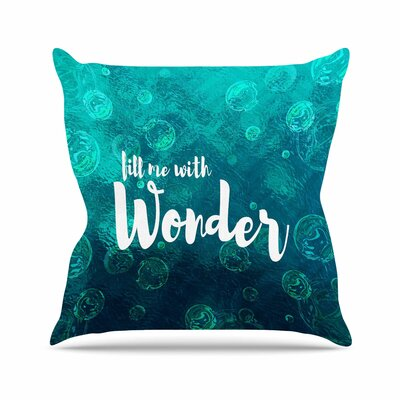 Suzanne Carter Wonder 2 Outdoor Throw Pillow Size: 18 H x 18 W x 5 D