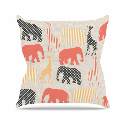 Suzanne Carter Zoo Outdoor Throw Pillow Size: 16 H x 16 W x 5 D