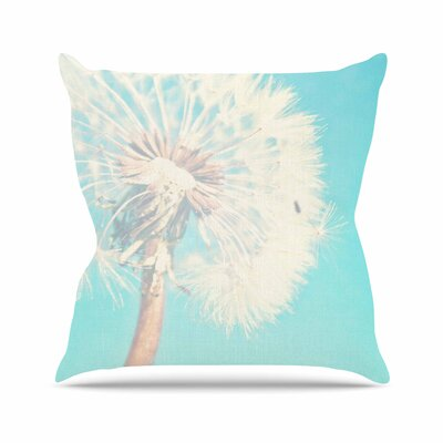 Sylvia Coomes Dandelion Photography Floral Outdoor Throw Pillow Size: 18 H x 18 W x 5 D