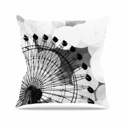 Sylvia Coomes Ferris Wheel Outdoor Throw Pillow Size: 16 H x 16 W x 5 D