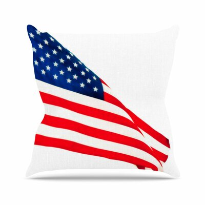 Sylvia Coomes American Flag Holiday Outdoor Throw Pillow Size: 18 H x 18 W x 5 D