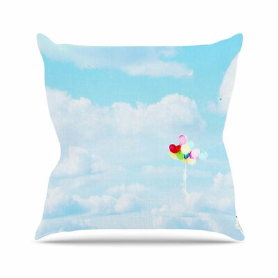 Sylvia Coomes Balloons in the Sky Photography Kids Outdoor Throw Pillow Size: 18 H x 18 W x 5 D