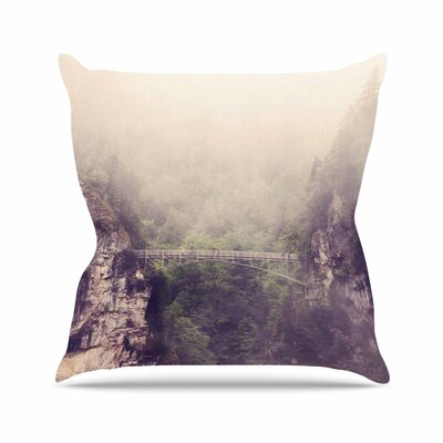 Sylvia Coomes Foggy Mountain Landscape Outdoor Throw Pillow Size: 18