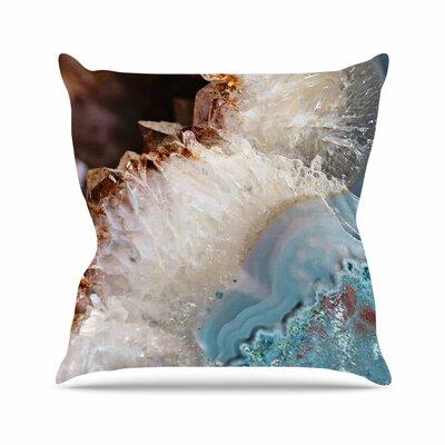 Sylvia Cook Quartz Waves Outdoor Throw Pillow Size: 18 H x 18 W x 5 D