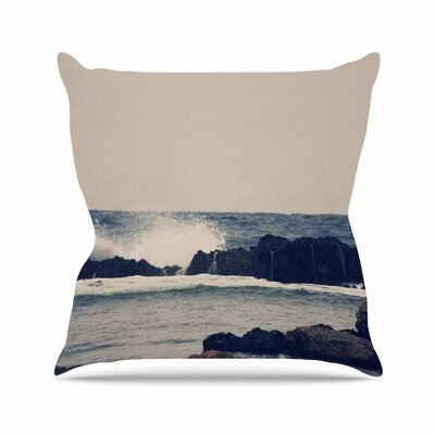 Sylvia Coomes Ocean 2 Coastal Outdoor Throw Pillow Size: 16 H x 16 W x 5 D