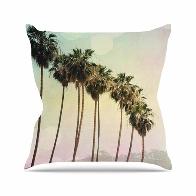 Sylvia Coomes Palm Trees Coastal Photography Outdoor Throw Pillow Size: 16 H x 16 W x 5 D