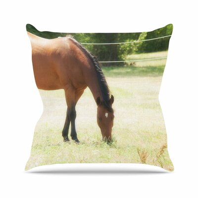 Sylvia Coomes Grazing Animals Outdoor Throw Pillow Size: 18 H x 18 W x 5 D